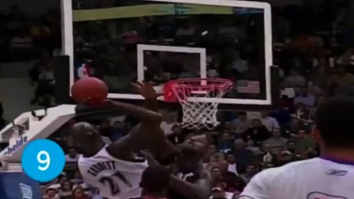 Recordamos las 10 mejores jugadas de Garnett en la NBA