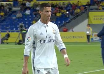 Cristiano Ronaldo se mostró muy enfadado al ser sustituido
