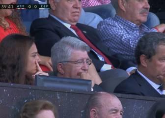 ¿Se durmió Cerezo durante la primera parte del partido?