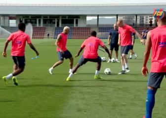 El Barcelona ensaya para el Borussia Mönchengladbach