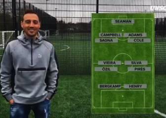 Cazorla elige su 11 ideal de la historia del Arsenal
