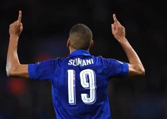 Slimani no falla y pone al Leicester en cabeza de grupo