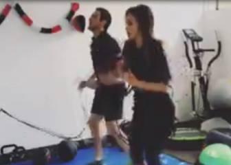 La dura preparación física de la atractivaJhendelyn Nuñez