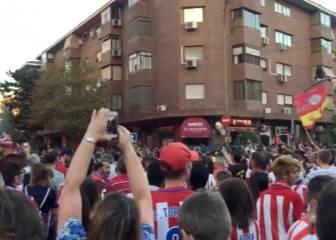 Ambientazo en el Calderón antes del Atlético-Bayern