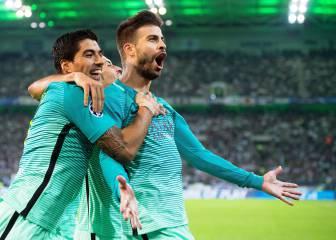 Arda y Piqué cambian el paso del Barça ante el Gladbach