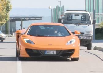 El McLaren de Cristiano revoluciona Valdebebas