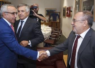 Alejandro Blanco y Samaranch visitaron la redacción de AS