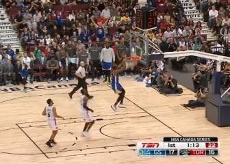 Así fue la primera canasta de Durant con los Warriors
