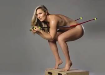 El desnudo de Lindsey Vonn para promocionar su libro