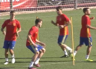 Saúl y Ander Herrera entrenan ya con la Selección