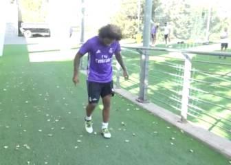 Increíble: Marcelo da toques a una pelota de tenis más de un minuto