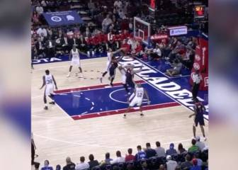 Sergio Rodríguez sigue de dulce en la NBA: taponazo