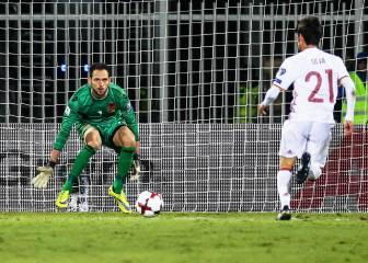 Cómo no despejar un balón: Berisha regaló el 0-1 a España