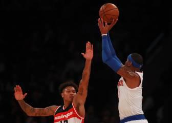 Carmelo frotó la lámpara ante los Wizards: ¡19 puntazos!