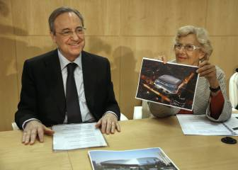 Florentino y Carmena presentan el nuevo Bernabéu