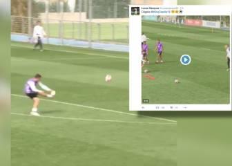 Con goles así es lógico que Lucas Vázquez vacile a Casilla