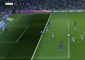 Marcelo marcó el tercero del Madrid en fuera de juego