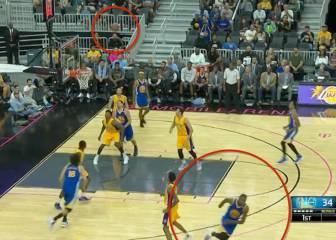 Durant ya es Warriors 100%: ¡triple a lo Curry sin mirar!