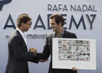 Nadal inaugura su academia con la presencia de Federer
