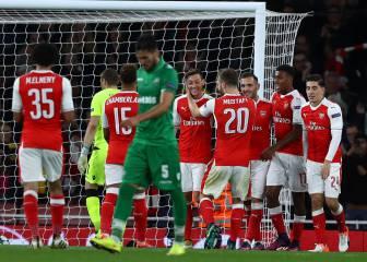 Set en blanco del Arsenal frente al Ludogorets