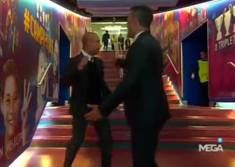 El saludo con flow de 'Lucho' y Guardiola: ¿Qué se dijeron?