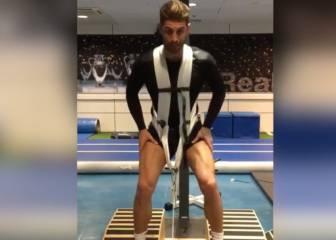 El duro ejercicio de Sergio Ramos para recuperarse