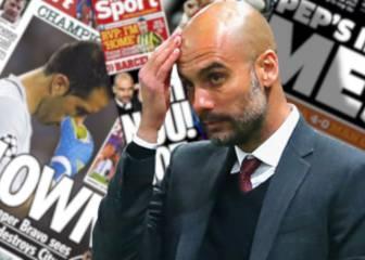Las duras críticas de la prensa inglesa a Guardiola y Bravo