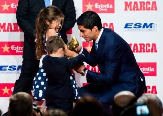 Luis Suárez, emocionado en su discurso de la Bota de Oro