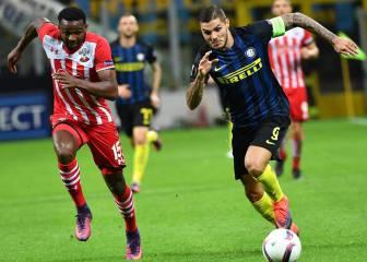 Un gol de Candreva da aire al Inter en la Europa League