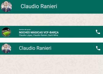 ¿Qué le dice 'El Piojo' a Ranieri antes de la visita del Barça?