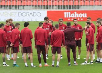 El Atleti prepara el choque ante el Sevilla sin Oblak