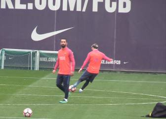 Messi es casi infalible: a punto de meter un canastón