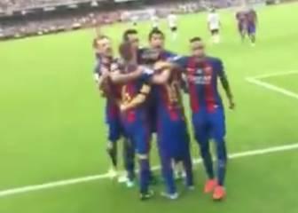 Neymar provocó e insultó al público antes del botellazo