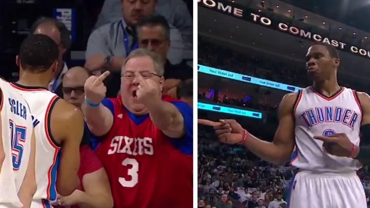 Doble peineta en la cara de Westbrook: ojo a la reacción