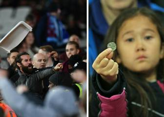 Eight-year-old girl pelted with coins by West Ham fans