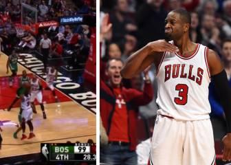 Wade es como el vino: triplazo ganador y gestito a los Celtics