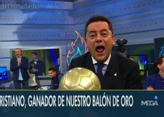 Roncero recoge el 'Balón de Oro' de Cristiano: