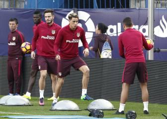 El Atleti trabajó para preparar el duelo con el Málaga