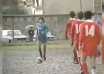 Maradona y su partido solidario en el barro