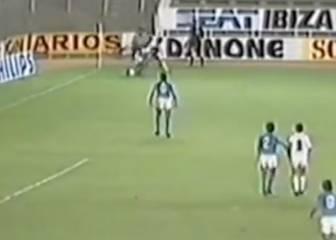 El caño de Chendo a Maradona en un partido a puerta cerrada
