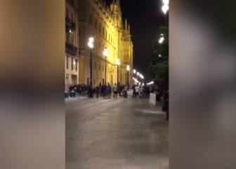 Batalla campal de los ultras del Dinamo Zagreb en Sevilla