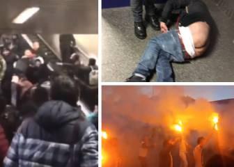 Salvaje pelea callejera entre ultras del Besiktas y el Napoli
