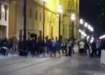 Batalla campal de los seguidores croatas en Sevilla