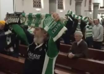 Gladbach y Celtic hermanados: 'Never walk alone' en la iglesia