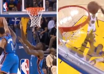 Pelea de gallos: Westbrook tapona a Durant y éste se lo devuelve