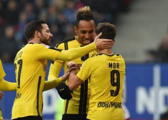 Póker de Aubameyang y el Dortmund vuelve a ganar