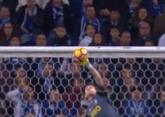 La palomita 'a lo Superman' de Casillas ante el Benfica