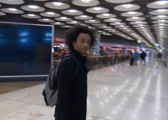 Marcelo volvió a Madrid con ganas del derbi del sábado