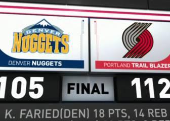 Resumen de Portland Trail Blazers - Denver Nuggets
