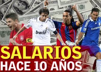 ¿Cuánto ganaban las estrellas de fútbol hace 10 años?